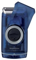 Braun washable Pocket Mobile Shaver Men,transparent blue