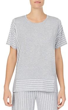 Donna Karan Striped Short-Sleeve Tee