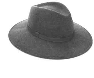 Mint Velvet Grey Wool Fedora Hat
