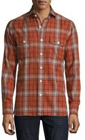 Tom Ford Flannel Check Shirt, Red