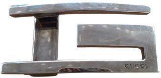 Gucci Silver Metal Belts