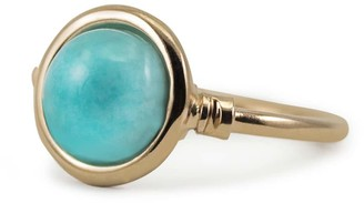 Vintouch Italy Satellite Rose Gold Vermeil Amazonite Ring