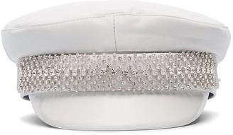 Ruslan Baginskiy Crystal-Embellished Baker Boy Hat