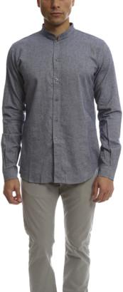 Blue & Cream Pop Collar Button Down Flannel