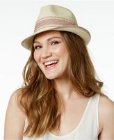 INC International Concepts Sparkle-Stripe Fedora, Created for Macy's