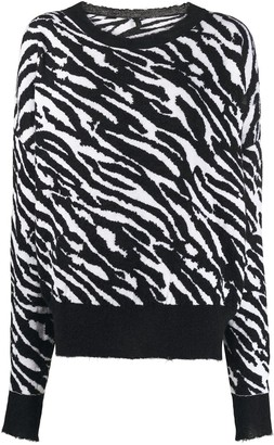 Unravel Project Zebra Print Sweater