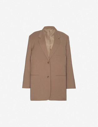 Frankie Shop Bea oversized single-breasted woven blazer