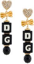 Dolce & Gabbana logo clip-on earrings