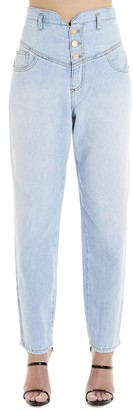 Pinko Belted High Waisted Jeans