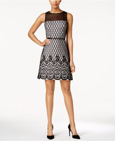 Jessica Simpson Printed Fit & Flare Dress