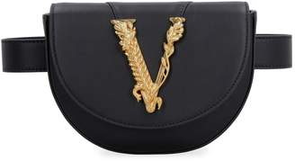 Versace Virtus Leather Belt Bag With Logo