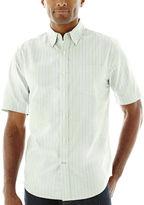ST. JOHN'S BAY St. John's Bay Short-Sleeve Easy-Care Oxford Shirt