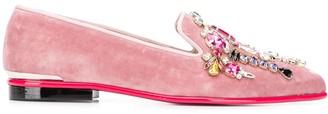 Alexander McQueen crystal embellished slippers
