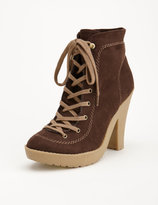 Lace-Up Suede Work Boots