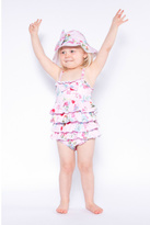 Powell-Craft Powell Craft Pink Ruffle Swimsuit