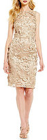 David Meister 3D Butterfly Short Sheath Dress