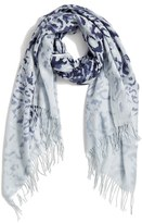 Nordstrom Women's Washed Leopard Print Wool & Cashmere Scarf