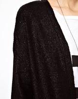 Just Female Longline Coated Cardigan