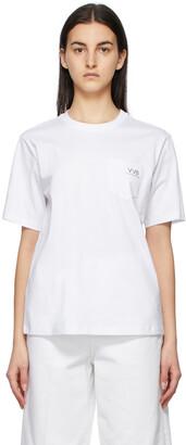 Victoria Victoria Beckham White Pocket Logo T-Shirt