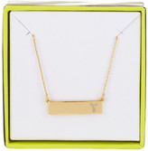BaubleBar 14K Gold Plated Ice &Y& Initial Bar Pendant Necklace