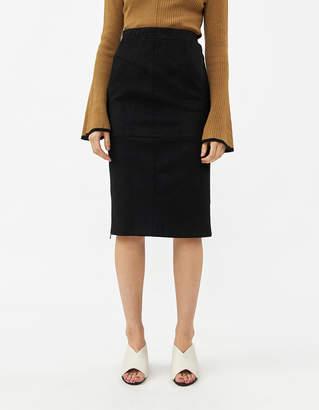 Stelen Women's Lisbeth Microsuede Skirt In Black, Size Small   Spandex
