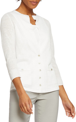 Nic+Zoe Event Day Button-Front Cardigan
