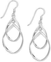 Unwritten Sterling Silver Earrings, Double Open Teardrop Earrings