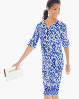 Chico's Printed Linen Short Dress