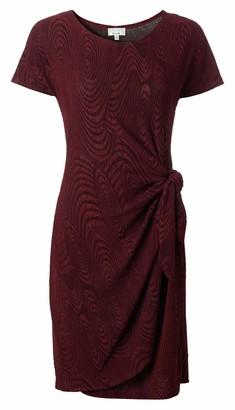 Robbie Bee Women's Short Sleeve Sarong Dress