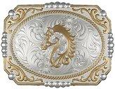 Montana Silversmiths Western Belt Buckle Horse Silver 25815-909