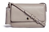 Elizabeth and James 'Cynnie' flap front leather crossbody bag