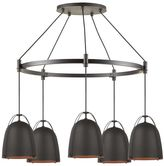 west elm Rejuvenation Haleigh Wire Dome Chandelier, Metal Round Canopy -Oil Rubbed Bronze
