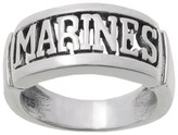 Journee Collection Women's Tressa Collection Sterling Silver Armed Forces 'Marines' Band
