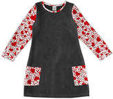 Urban Smalls Girls' Casual Dresses Heather - Black & Red Confetti Hearts Pocket Katie Dress - Girls