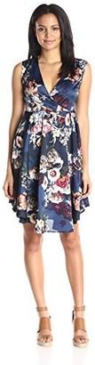 Lucca Couture Women's Floral-Print Surplice Dress