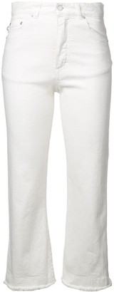 Fiorucci Cropped High-Waist Jeans
