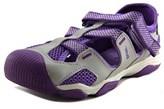 Teva Jansen Youth Round Toe Leather Purple Sport Sandal.