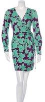 Diane von Furstenberg Melis Silk Printed Wrap Dress