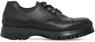Prada 40mm Brixxen Leather Lace-up Shoes