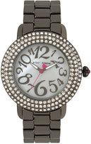 Betsey Johnson Women's Gunmetal Bracelet Watch 42mm BJ00306-07