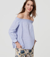 LOFT Striped Off the Shoulder Top