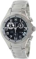 Victorinox Men's 241466 Silver Stainless-Steel Swiss Quartz Watch with Black Dial