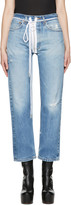 Off-White Blue Levis Edition Zipped Jeans