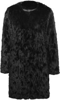 M&Co Collarless faux fur coat