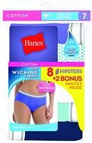 Hanes Women's 6-Pack Comfortsoft Hipster White (Bonus +2)