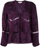 IRO lace detail frill blouse