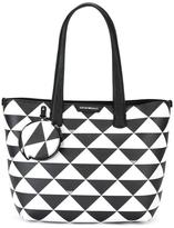 Emporio Armani triangles tote bag - women - Leather - One Size