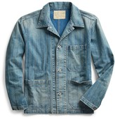 Ralph Lauren Striped Indigo Twill Jacket