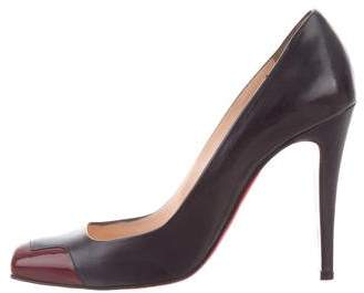 Christian Louboutin Leather Cap-Toe Pumps