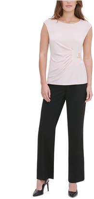 Calvin Klein Side-Buckle Sleeveless Top